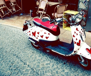 hearts and motorcycle image