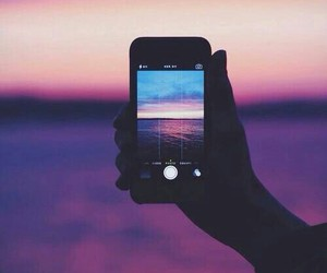 iphone, photography, and sunset image