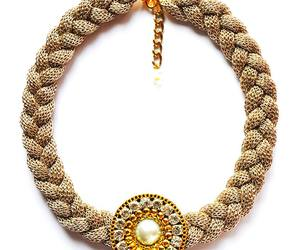 bijoux, necklace, and gold image