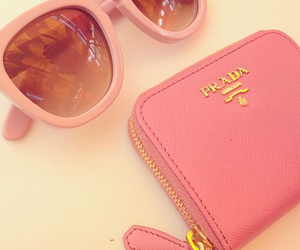 Prada, pink, and sunglasses image