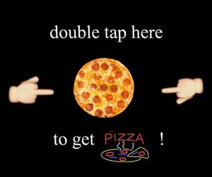 pizza, food, and double tap image