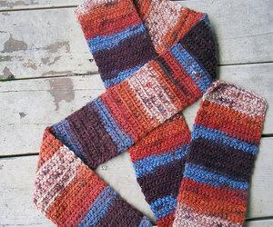 crochet, handmade, and scarf image