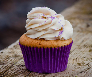 cupcake, purple, and food image