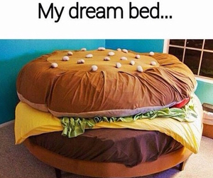 bed, Dream, and food image