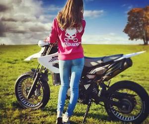 girl, motocross, and Motor image