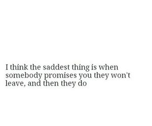 sad, quote, and promise image