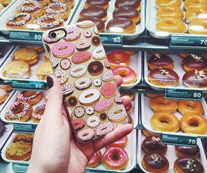 donuts, cute, and iphones image