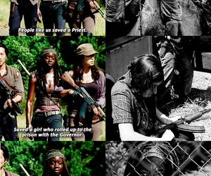 the walking dead, twd, and michonne image