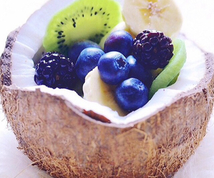 fruit, coconut, and food image