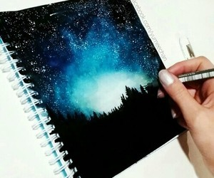 art, drawing, and night image