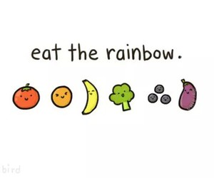rainbow, fruit, and food image