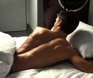 bed, body, and boy image