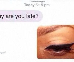 chat, eyeliner, and funny image
