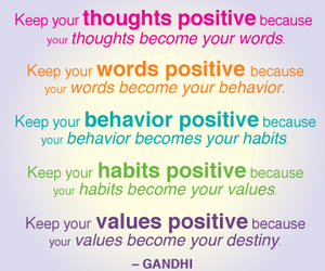 gandhi, positive, and quotes image