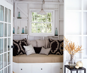 white, room, and window image
