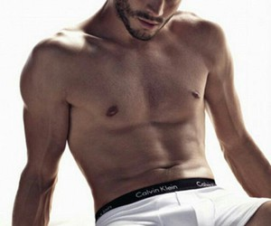 Jamie Dornan, Calvin Klein, and model image