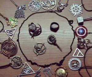 harry potter, necklace, and fandom image