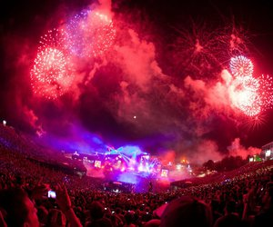 Tomorrowland, fireworks, and music image
