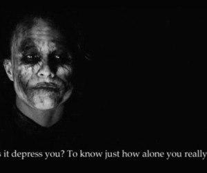joker, alone, and quote image