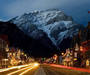 canada, city, and mountains image
