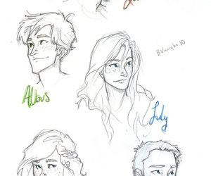 harry potter, rose weasley, and albus severus potter image