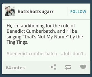benedict, fandom, and funny image
