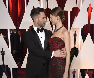 Behati Prinsloo, maroon 5, and adam levine image