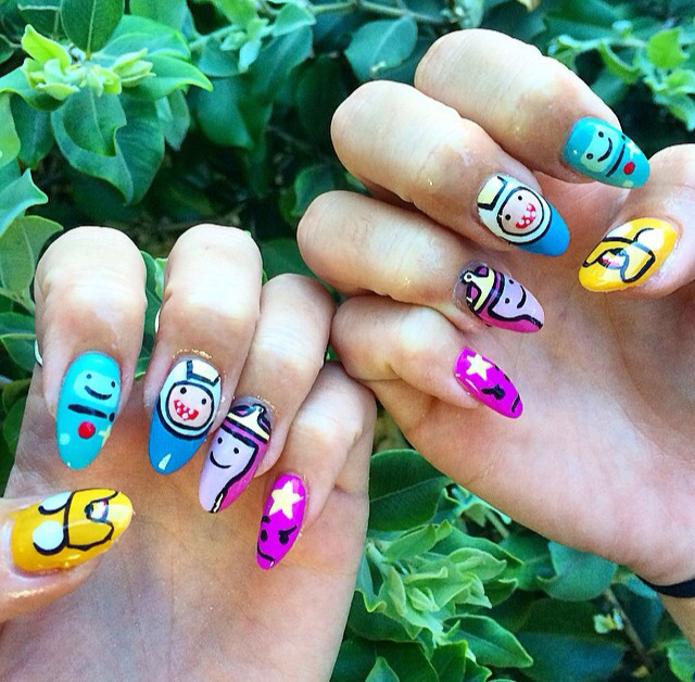Adventure Time Nails Uploaded By Steph On We Heart It