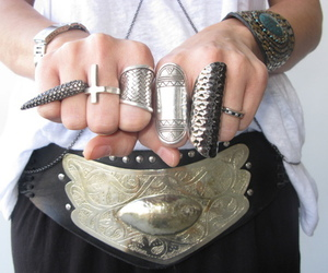 fashion, rings, and belt image