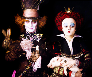 johnny depp, alice in wonderland, and mad hatter image