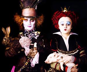 johnny depp, alice in wonderland, and mad hatter image