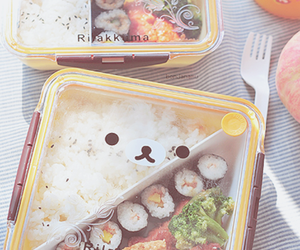 bento, food, and rilakkuma image