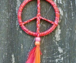 peace and feather image