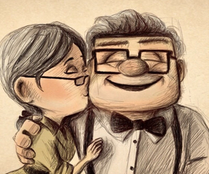 couple, drawing, and movie image
