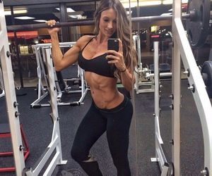 gym, selfie, and fitspo image