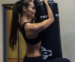 beauty, boxe, and girl image