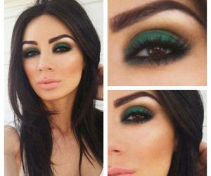 makeup, make up, and green image