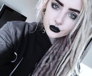 alt girl, dyed hair, and blonde image