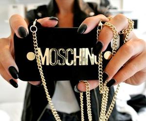 Moschino, fashion, and black image