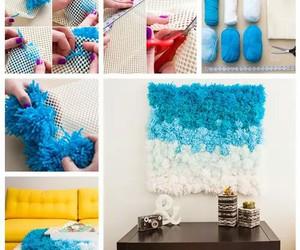 blue, diy, and soft image