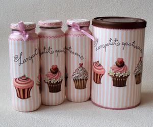 cupcake, girly, and pink image