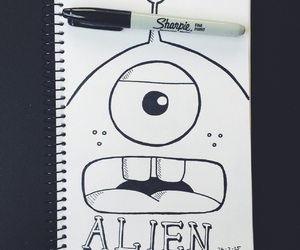alien, design, and drawing image