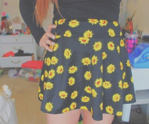 flowers, tumblr, and skirt image