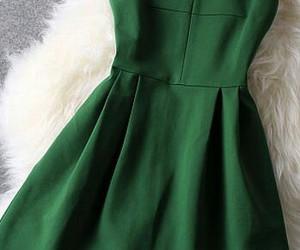 green, fashion, and dress image