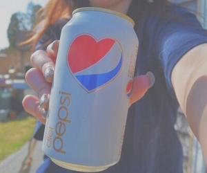 Pepsi, heart, and drink image