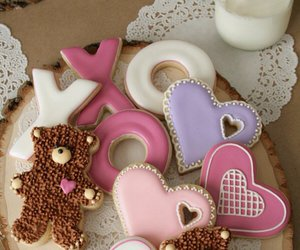 bear, Cookies, and heart image