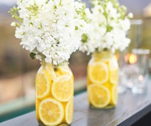 flowers, lemon, and summer image