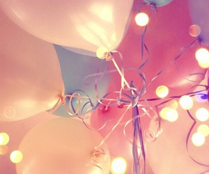 balloons, girly, and light image