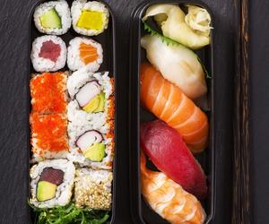 sushi, food, and fish image