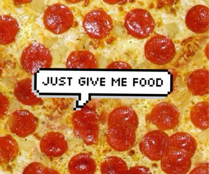 food, pizza, and tumblr image